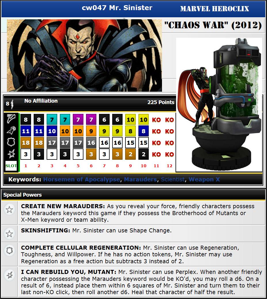 CW047 Mr Sinister