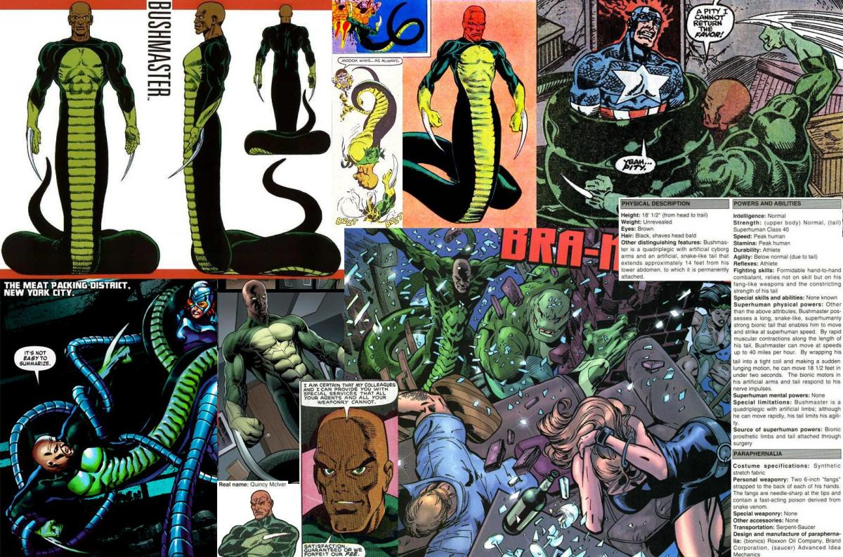 Marvel HeroClix Wish-List: Bushmaster (Serpent Society)(v3.2)