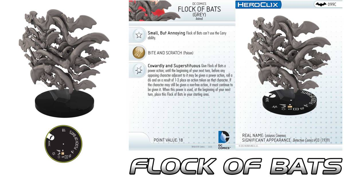 "HeroClix: It's the ""flocking Batman""."
