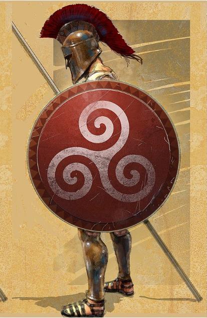 Hoplite troop with Hoplon shield