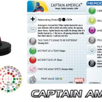 Marvel HeroClix AVENGERS 2: AGE OF ULTRON Captain America previews. (v1.2)