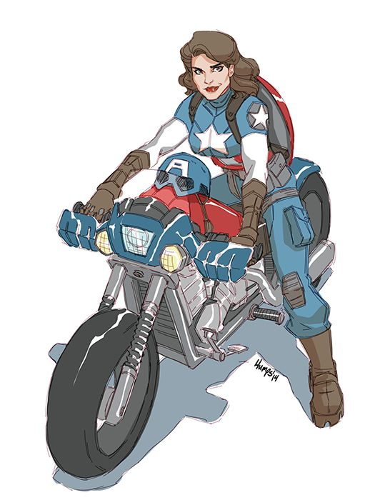 Captain Peggy America artist unknown