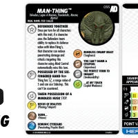 Marvel HeroClix Avengers/Defenders War- Man-Thing | HeroClix