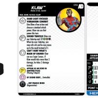 Marvel HeroClix: Avengers/Defenders War – Klaw | HeroClix