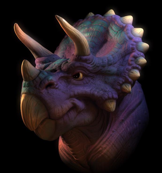 Purple_TriCeratops_by_Carlos_Ortega